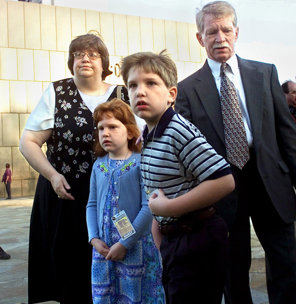 The Denny family, moments before the McVeigh execution.